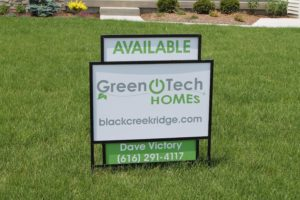Sign in front of Home at Black Creek Ridge