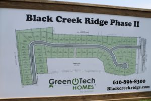 Site Plan at Black Creek Ridge