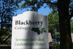 Entrance sign at Blackberry Cottages