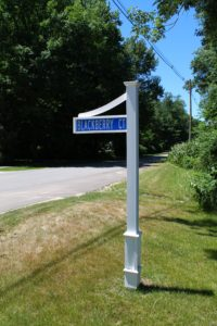 Street Sign view at Blackberry Cottages