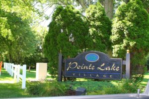 Front Sign at Pointe Lake Village