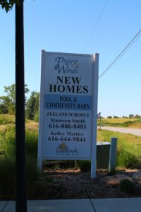 Entrance Sign at Prairie Winds