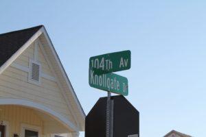 Street Sign near Knollwood