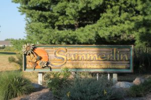 Front Sign at Summerlin South Condos