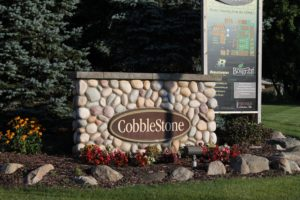 Entrance Sign at Cobblestone