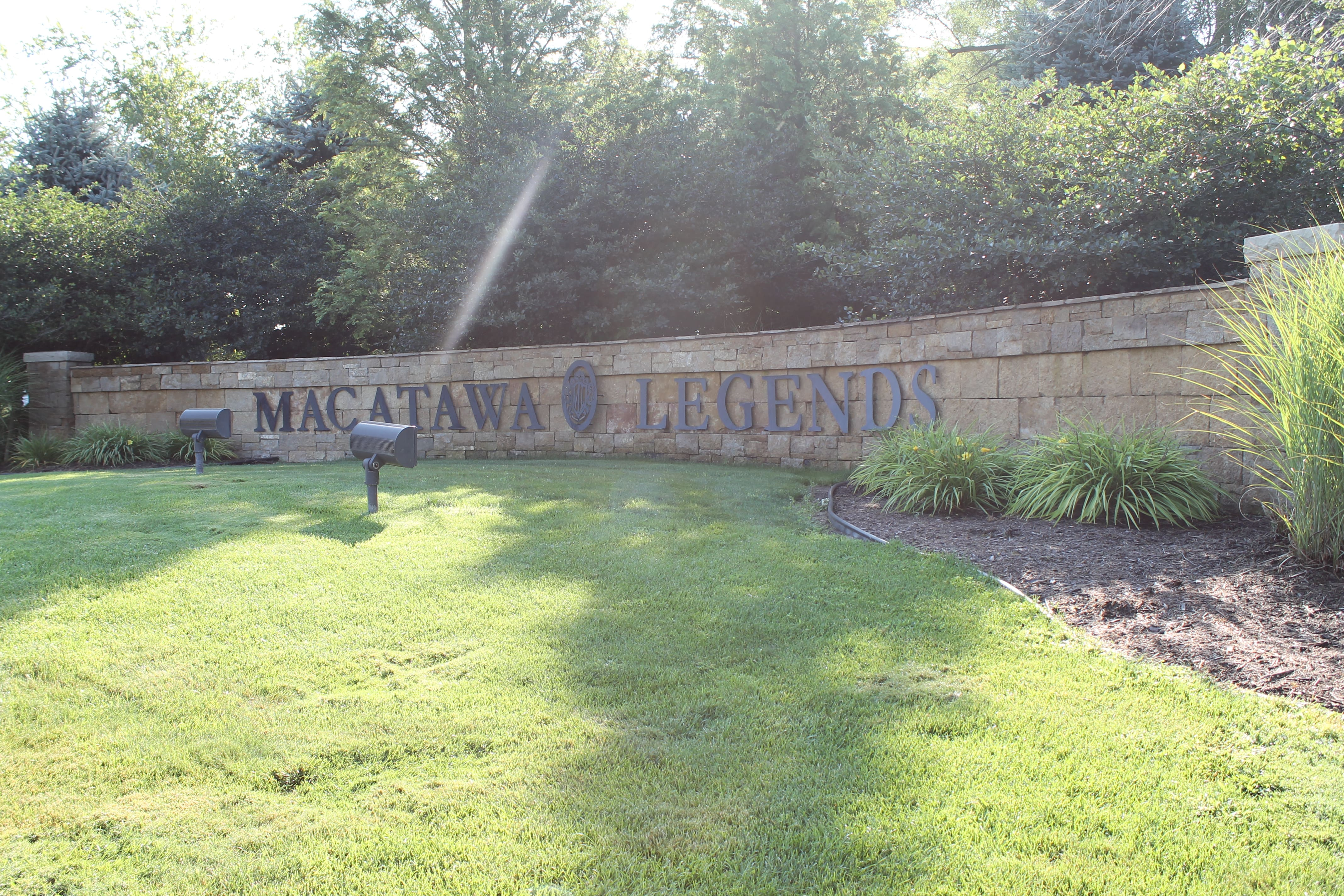 Entrance sign of Macatawa Legends