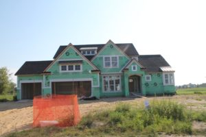 New Construction on a Home at Macatawa Legends