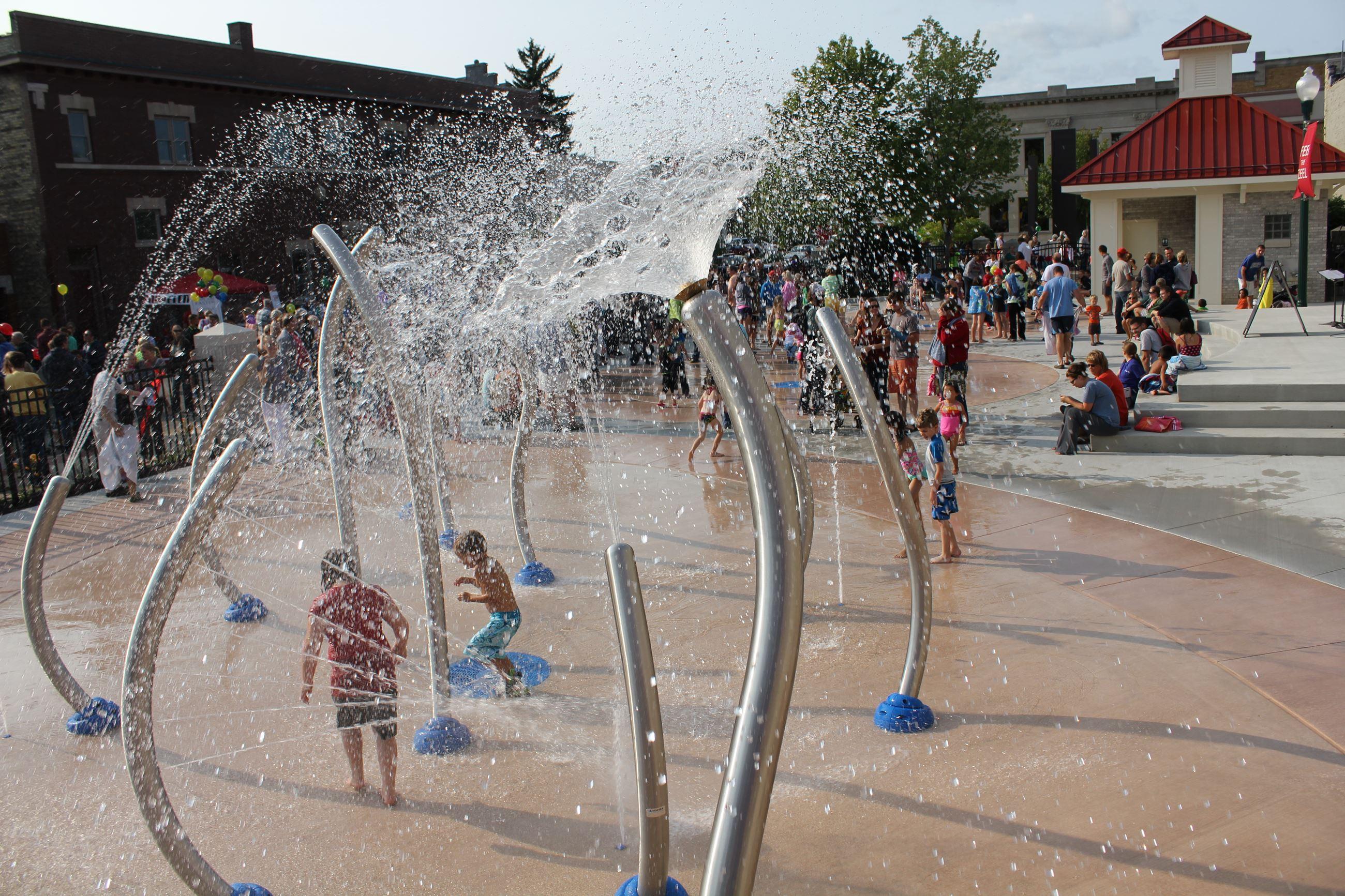 Photo of Splash Pad Water Park in Zeeland Michigan