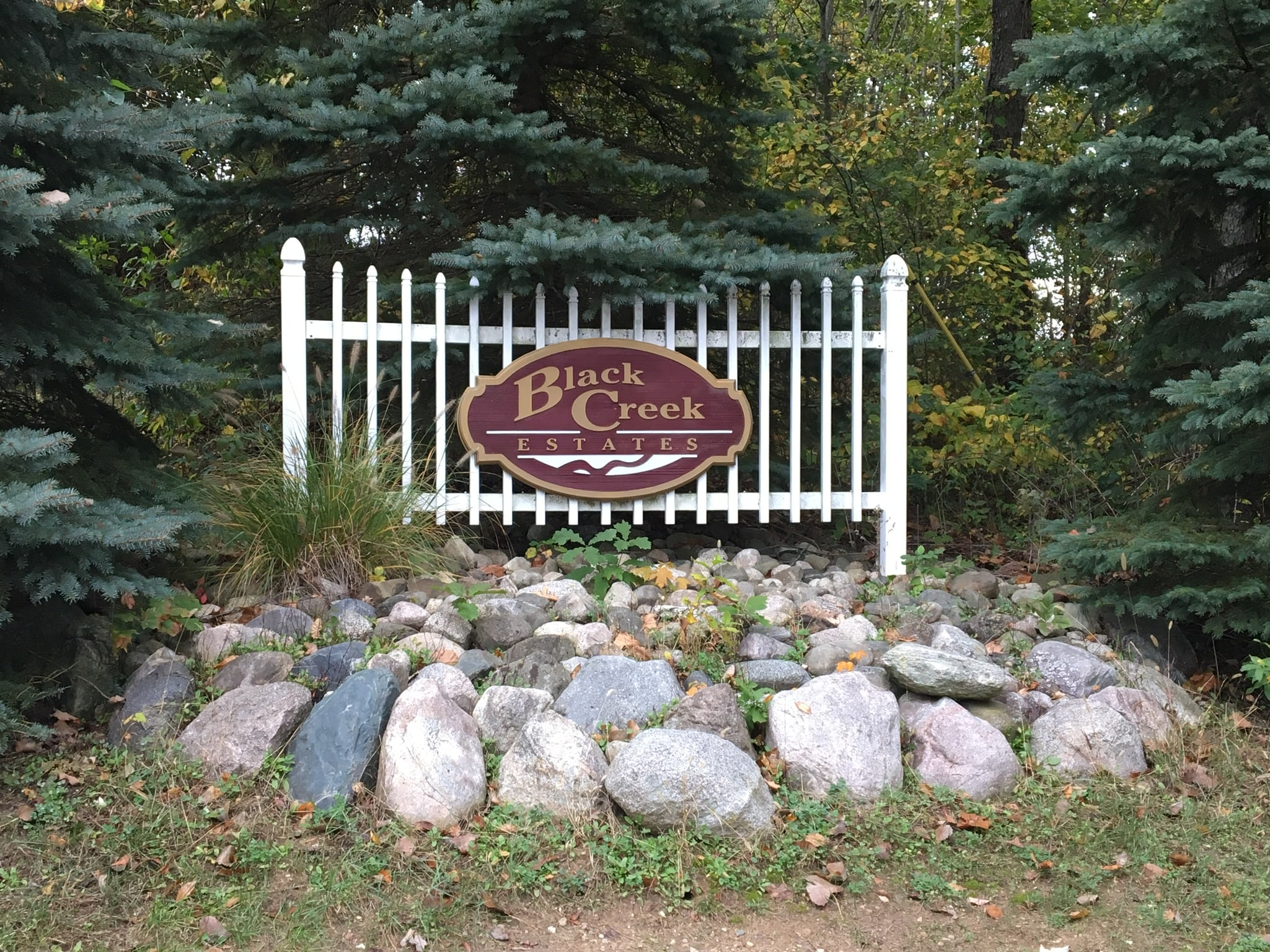 Entrance Sign of Black Creek Estates