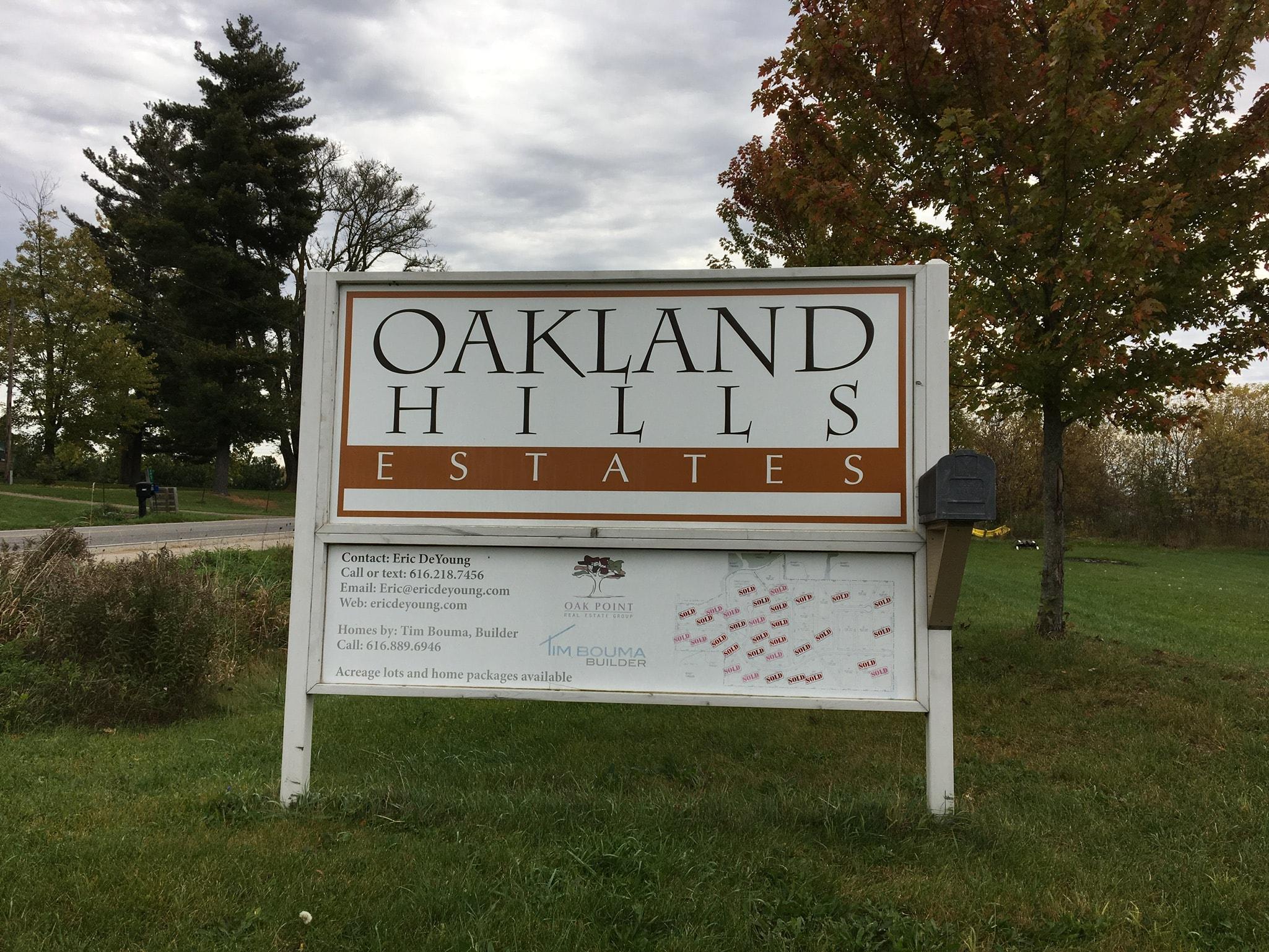 Entrance Sign of Oakland Hills Estates