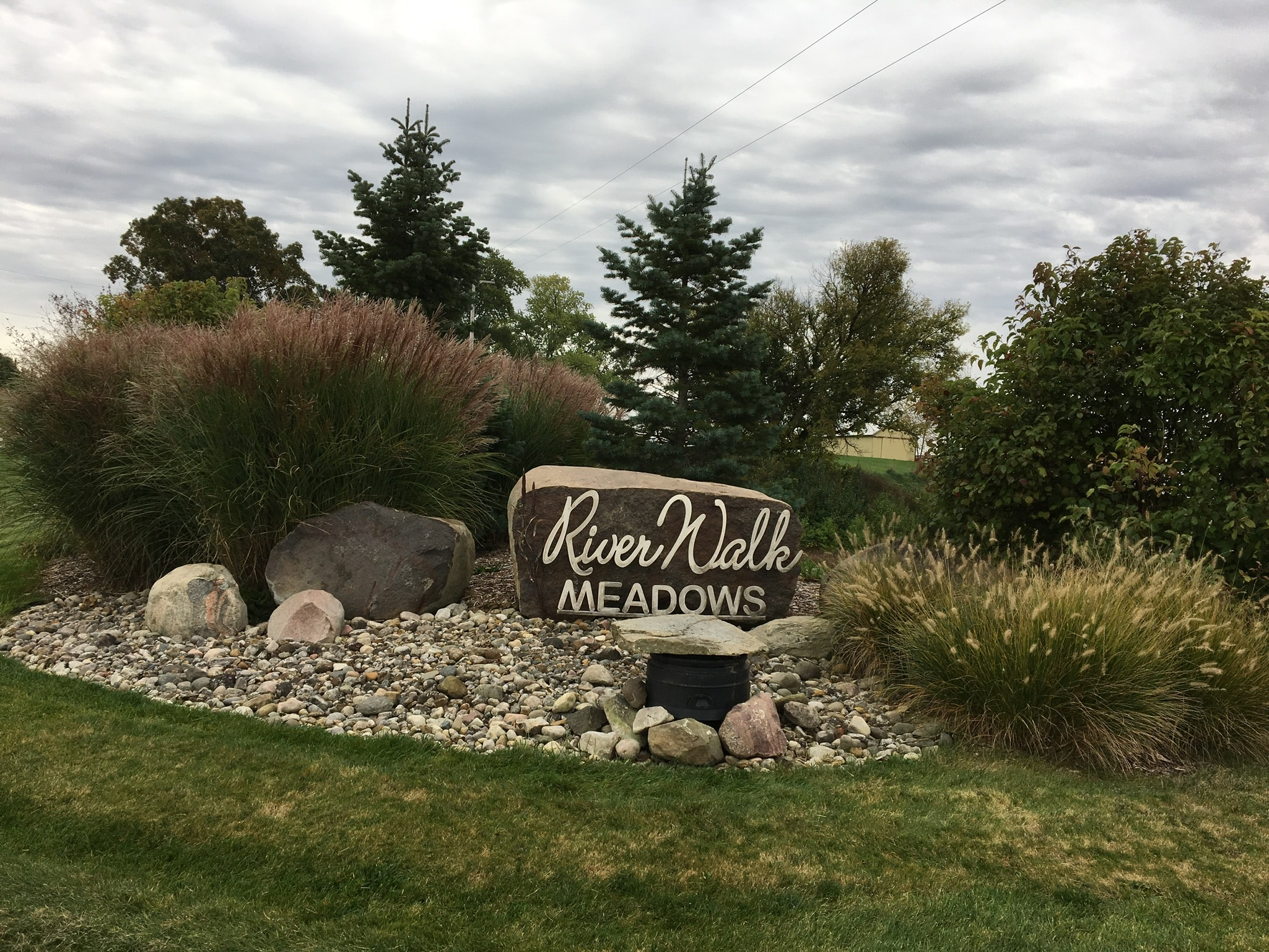 Entrance Sign of Riverwalk Meadows