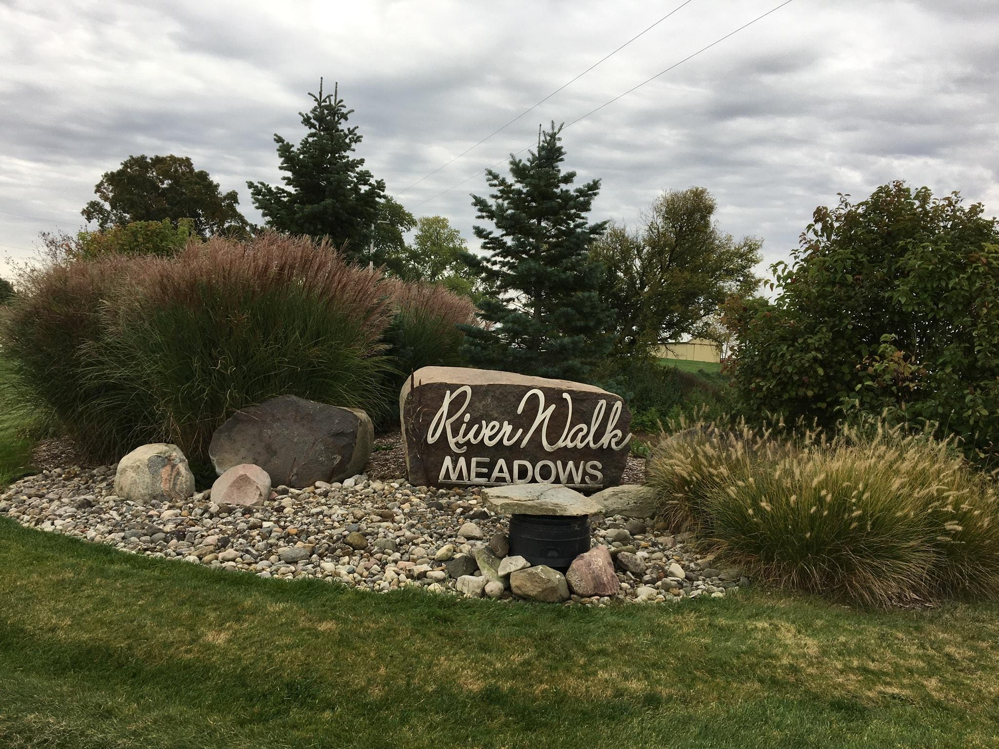Entrance Sign of Riverwalk Meadows