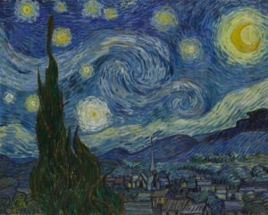 "Vincent Van Gogh's ""Starry Night."" Image from the MoMA museum."