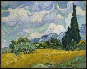 "Vincent Van Gogh's ""Wheat field with Cypresses."" Image from the Metropolitan Museum"
