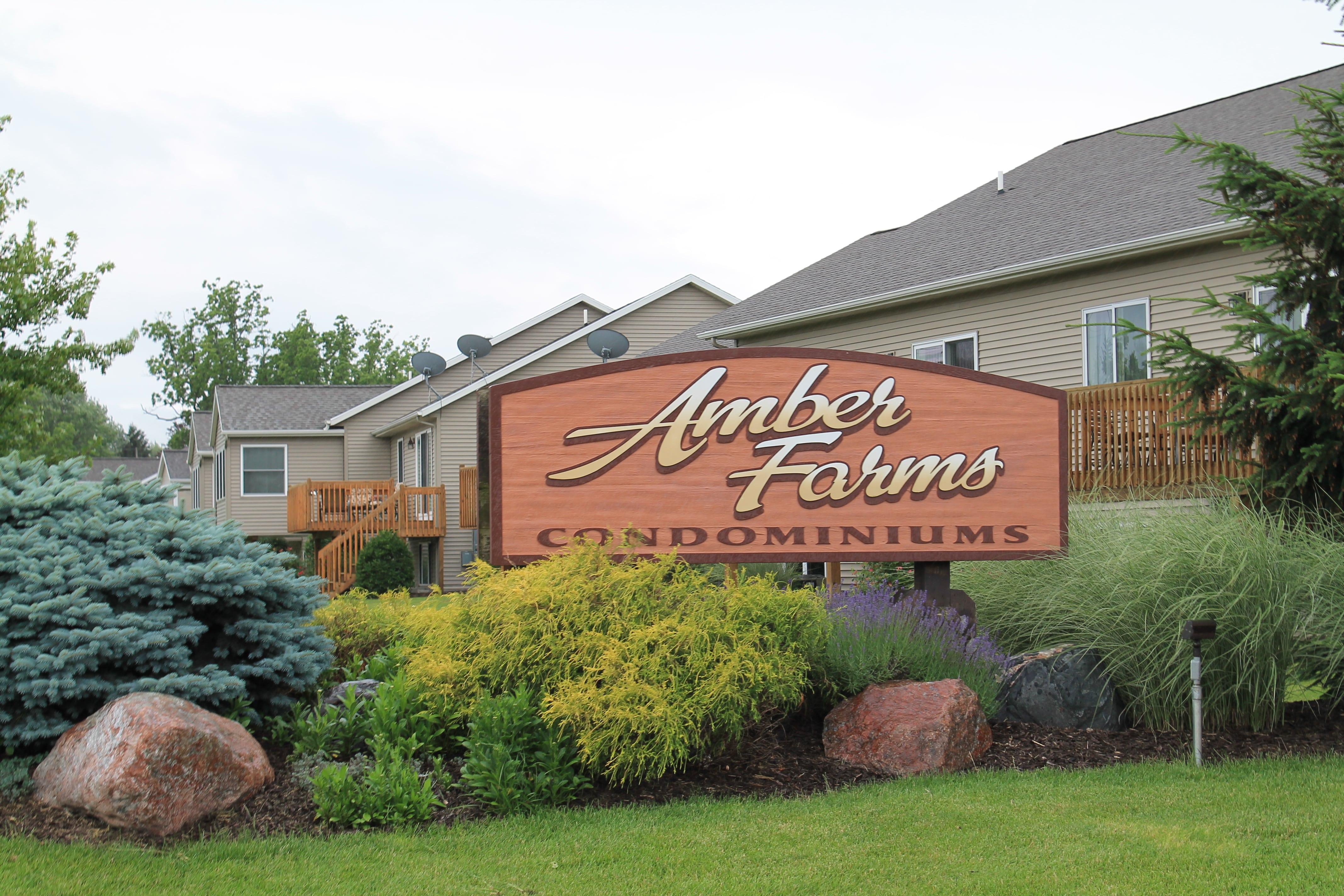 Entrance Sign at Amber Farms Condominiums