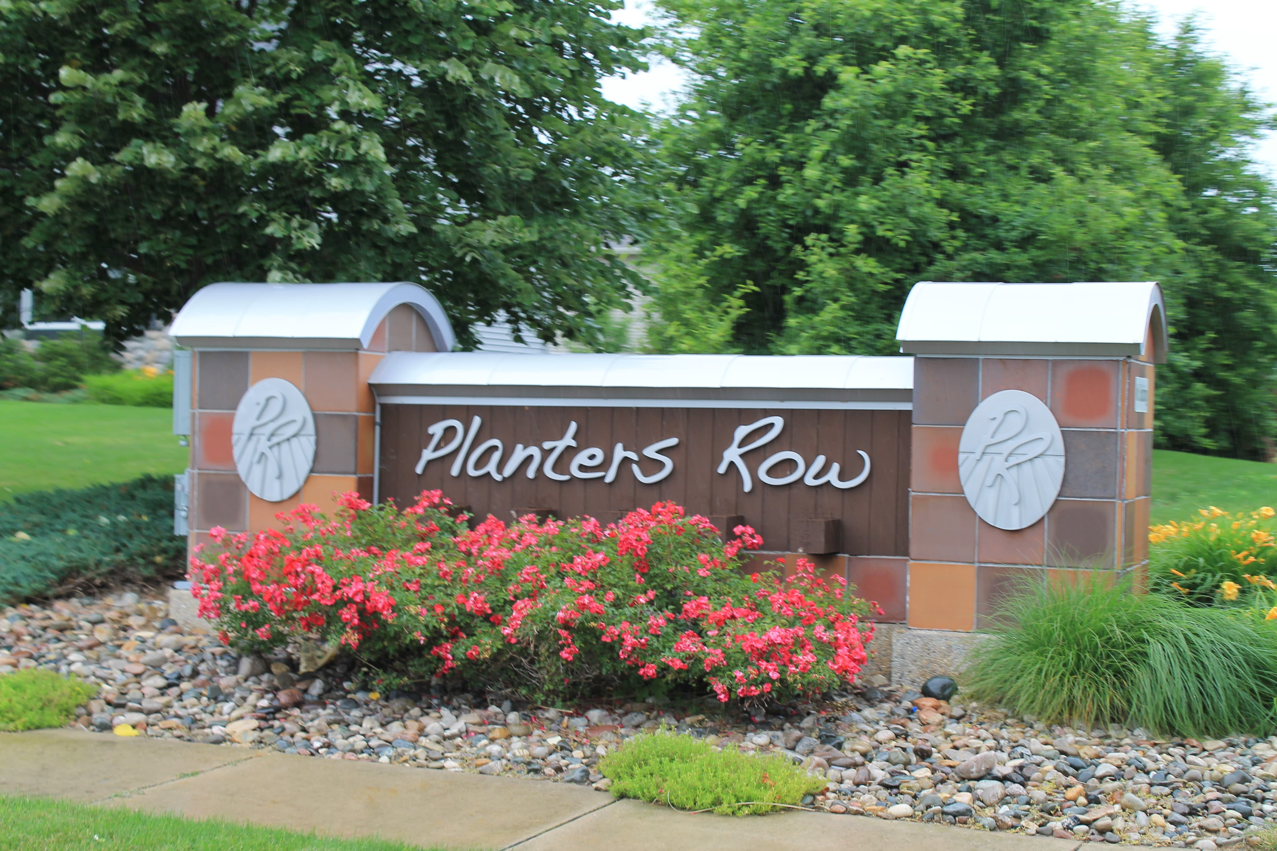 Entrance Sign of Planters Row