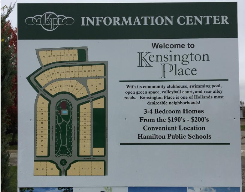 Plat Map for Kensington Place
