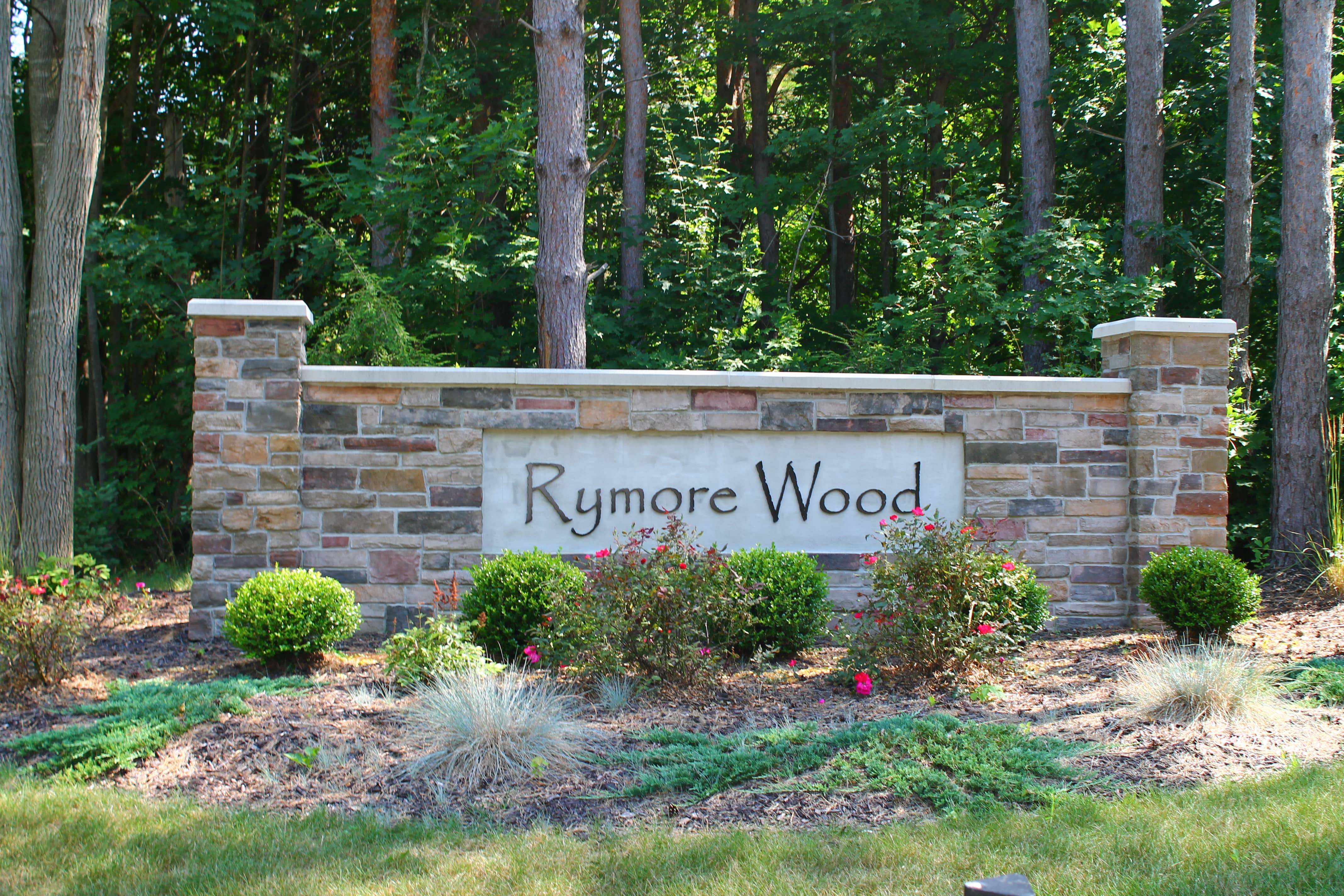 Entrance Sign of Rymore Wood