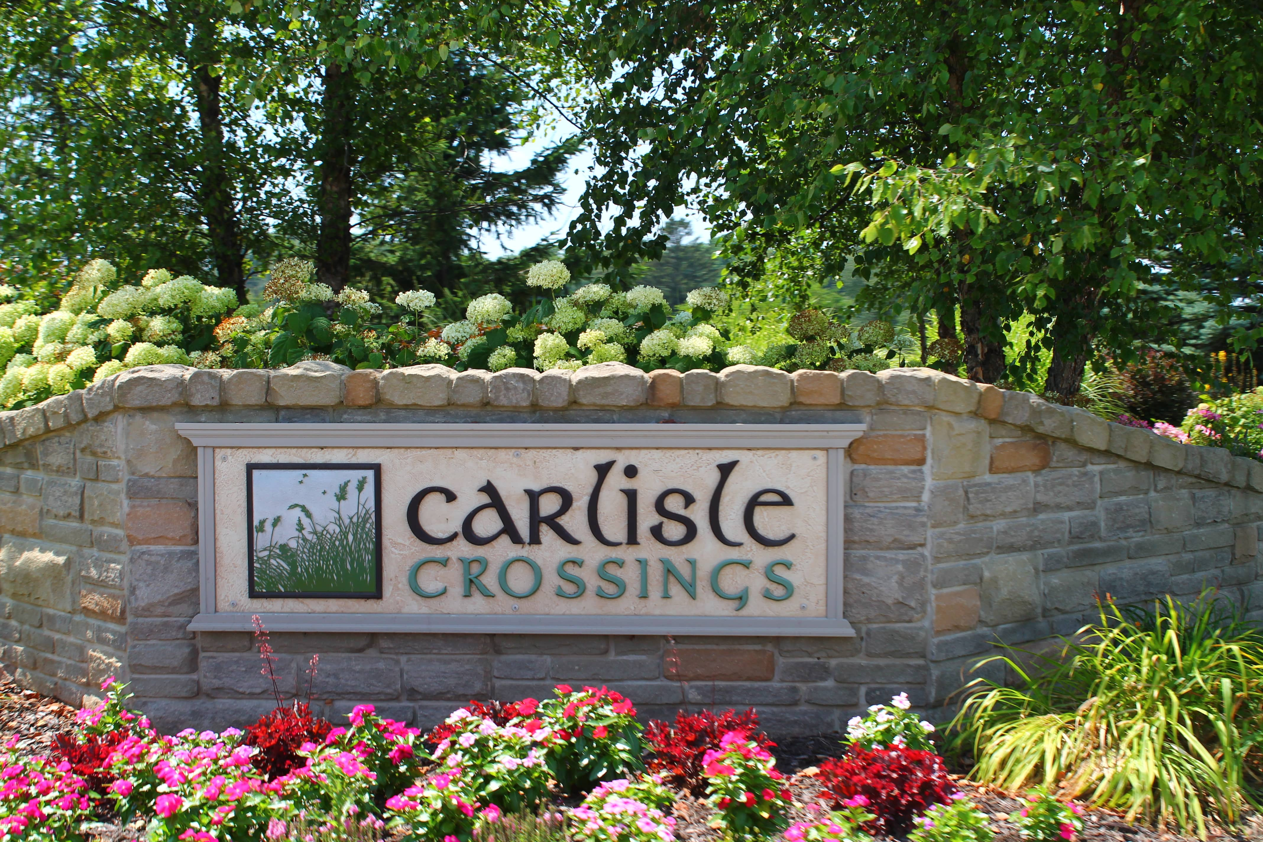 Entrance Sign of Carlisle Crossings